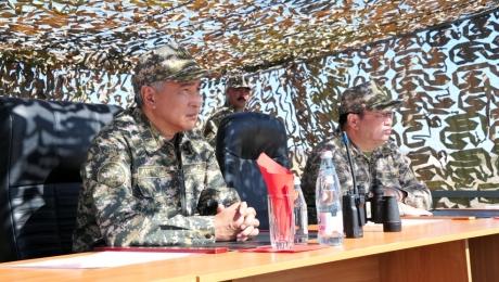 Министр обороны РК подвел итоги учения  «Каратау-2015»