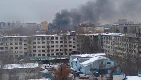 Крупный пожар произошел в Астане