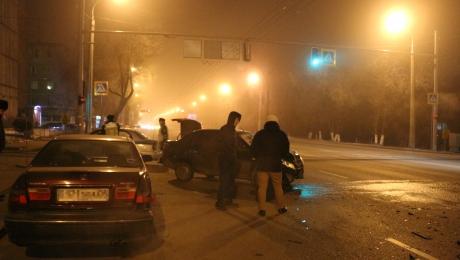 В Алматы столкнулись Lada и Honda